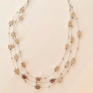 Lia Sophia Silver Multi-Strand Necklace